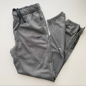 NEW Nike Grey Black Therma-Fit Joggers • Small